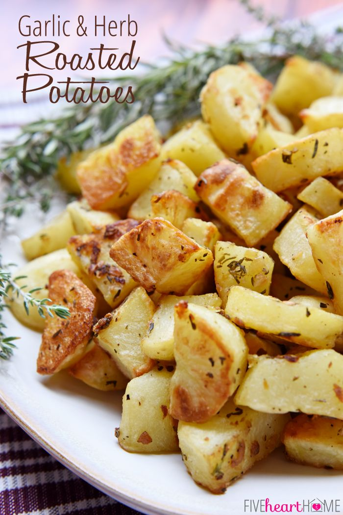 Garlic & Herb Roasted Potatoes FoodBlogs.com #Potatoes