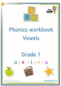 Phonics : Grade 1: Phonics - Vowel workbook