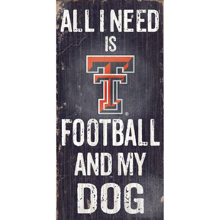 Texas Tech Red Raiders Football & My Dog Sign, Multicolor