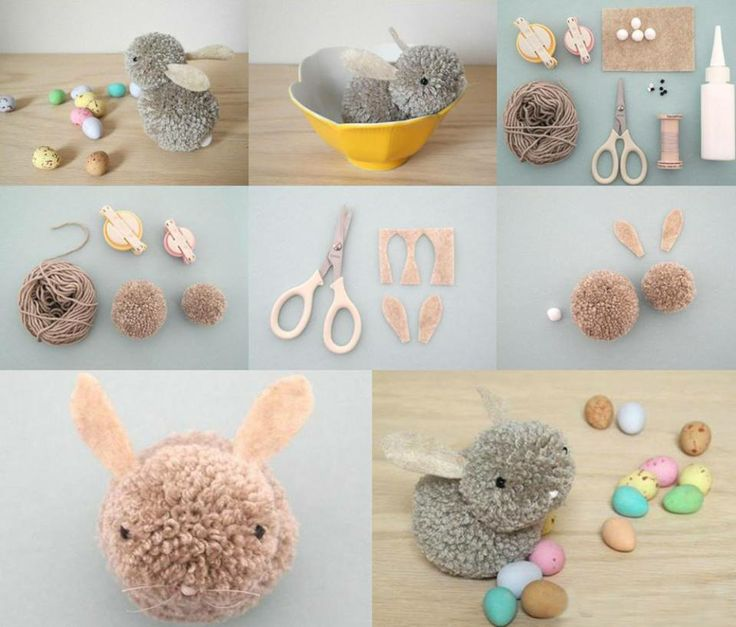 animaux en pompons projets essayer pinterest id es lapins et lapin de p ques. Black Bedroom Furniture Sets. Home Design Ideas