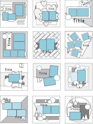 Cluttered Scrapbooking Layouts Birthday #scrapbook…