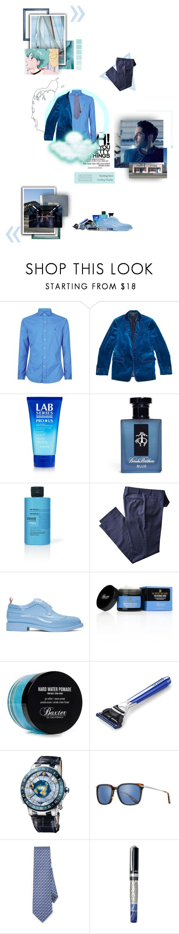 """""""Pace yourself for me I said maybe, baby, please But I just don't know now When all I want to do is try"""" by aspera-ad-inferi ❤ liked on Polyvore featuring Zephyr, Polo Ralph Lauren, Etro, Lab Series, Tiffany & Co., Brooks Brothers, La Compagnie de Provence, Thom Browne, Baxter of California and The Art of Shaving"""