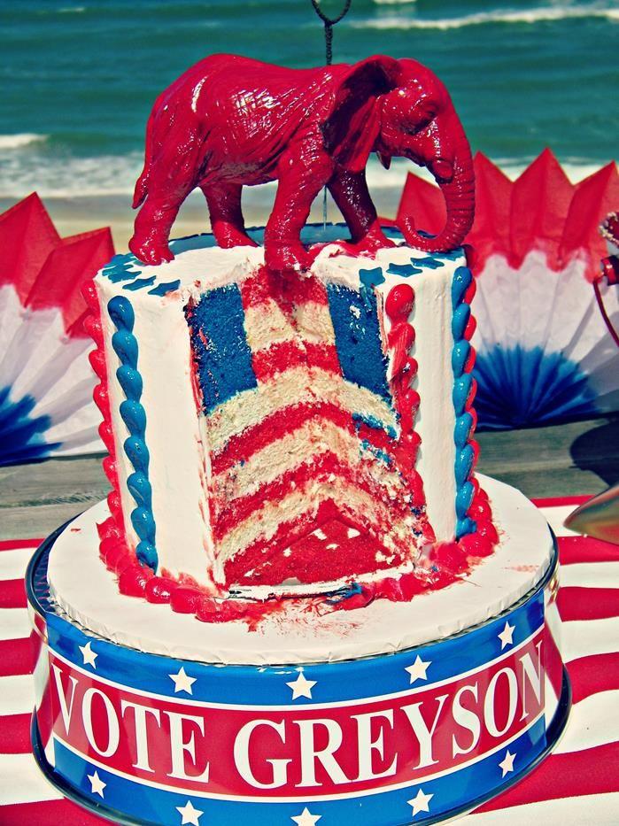 Greyson for President Birthday Party via Kara's Party Ideas   Kara'sPartyIdeas.com #president #party #election #idea (25)
