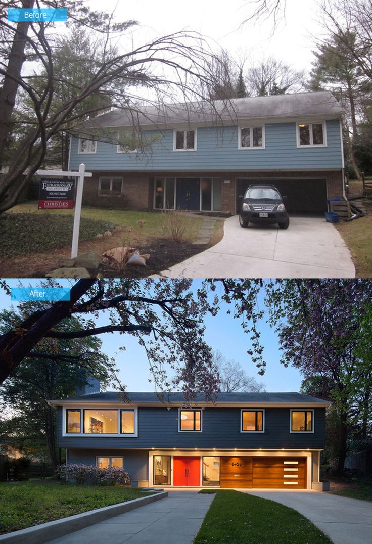 25 best ideas about exterior remodel on pinterest for Before and after exterior home makeovers