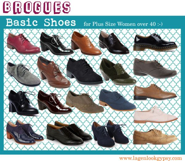 Basic Shoes for Plus Sizes over 40 - Brogues