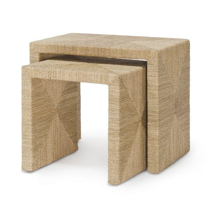 "Jeffrey Alan Marks WOODSIDE NESTING TABLE, SET OF 2 Large: 23.75""l x 15.75""w x 20.5""h Small: 17.75""L x 15.75""w x 17.75""h. Can be shipped Federal Express Ground. Weight 43 lbs. #JAM #THEMEANINGOFHOME www.jam-design.com"