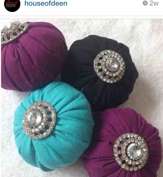 Hijab pin holders! So cute and necessary!