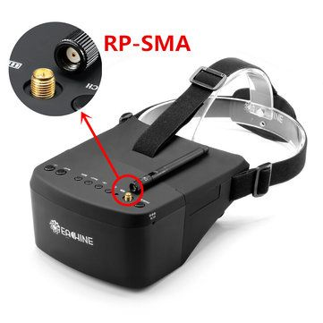 Eachine EV800 5 Inches 800x480 FPV Goggles 5.8G 40CH Raceband Auto-Searching Build In Battery Sale - Banggood.com
