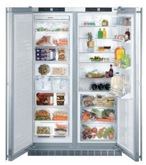 "LIEBHERR 48"" Side-by-Side Built-In 22.2 cu.ft. All Fridge/All Freezer Combination - Trail Appliances"