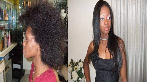 Before and after hair  weave