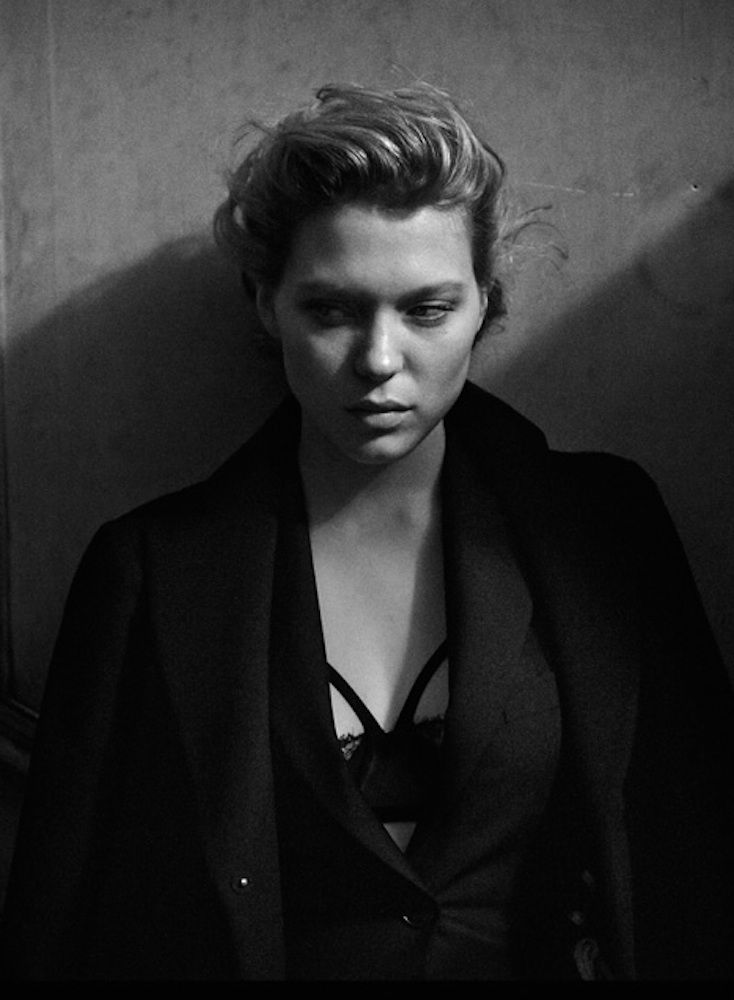 Lea Seydoux Photography by Peter Lindbergh for Interview Magazine, September 2014.