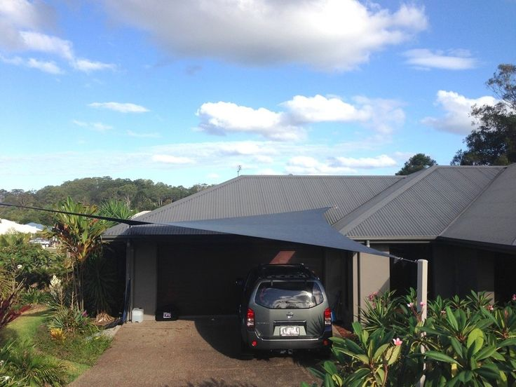 Driveway Shade Sail Google Search Home Outdoor