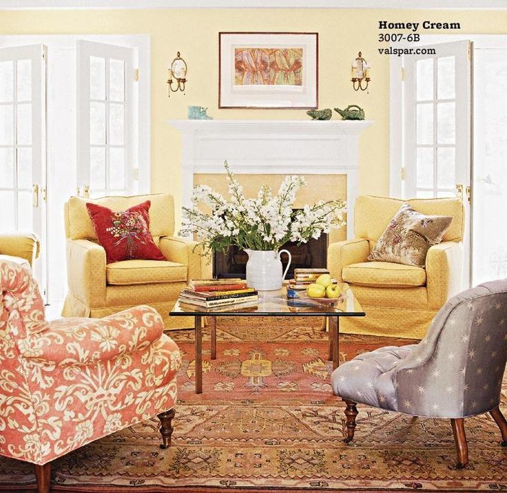 Homey cream valspar paint colors pinterest paint colors colors and hallways - Living room paint cream ...