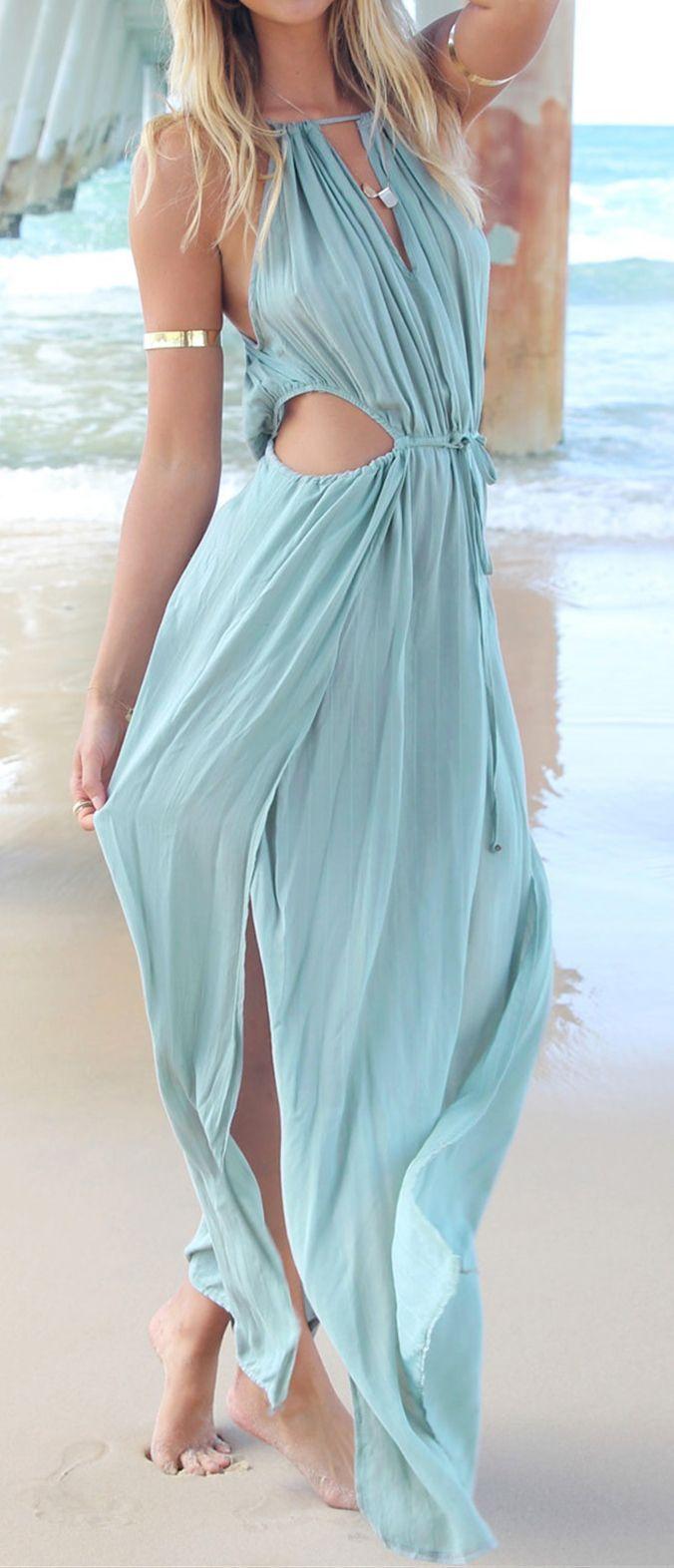 Cutout Beach Maxi Dress