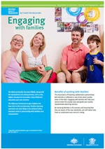 Fact sheet for educators - Engaging with families