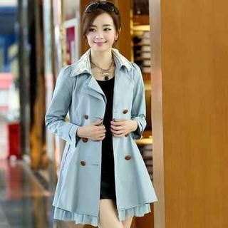 Buy 'Ringnor – Ruffle-Hem Double-Breasted Coatdress' with Free Shipping at YesStyle.ca. Browse and shop for thousands of Asian fashion items from China and more!