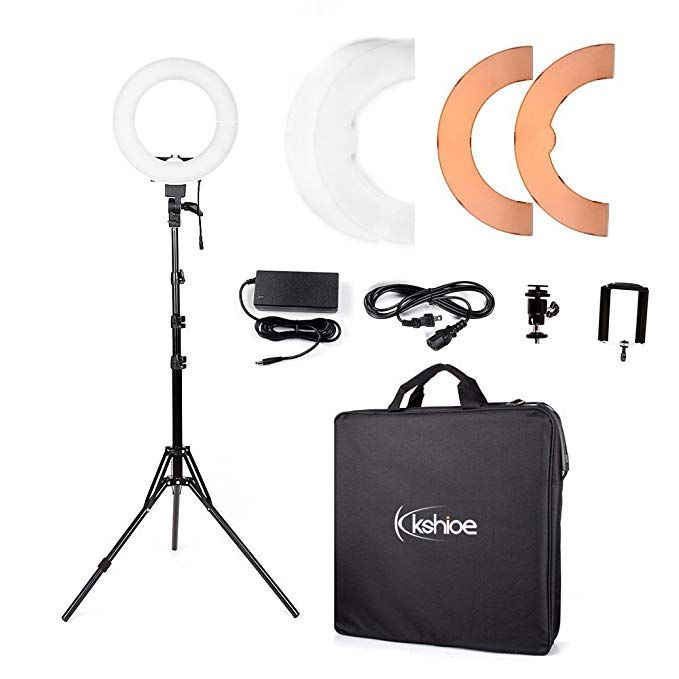 Kshioe 14 Outer 12 Inner Dimmable Led Ring Light Continuous Lighting Kit Photography Photo Studio Light For Led Ring Light Led Ring Photo Studio Lighting