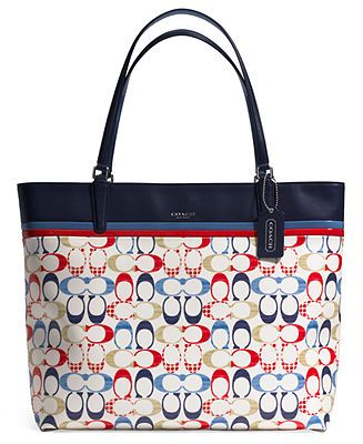 COACH TOTE IN SIGNATURE COATED CANVAS - Coach Handbags - Handbags & Accessories - Macy's