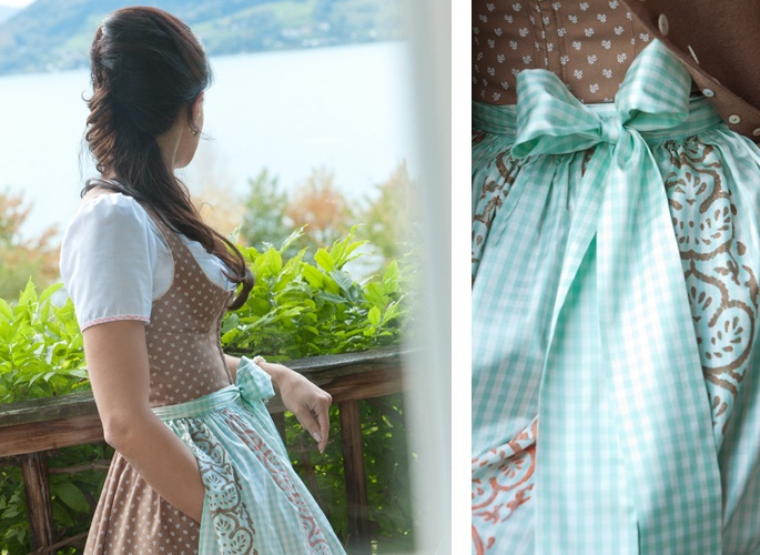"""Dirndl """"Susi"""" Susanne Spatt - Love the colors cleavage is to low for me"""