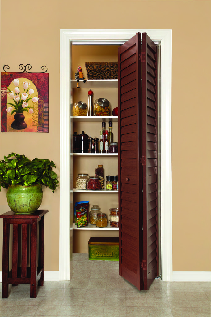 Louver/Louver Cherry Pantry Door House styles, Home
