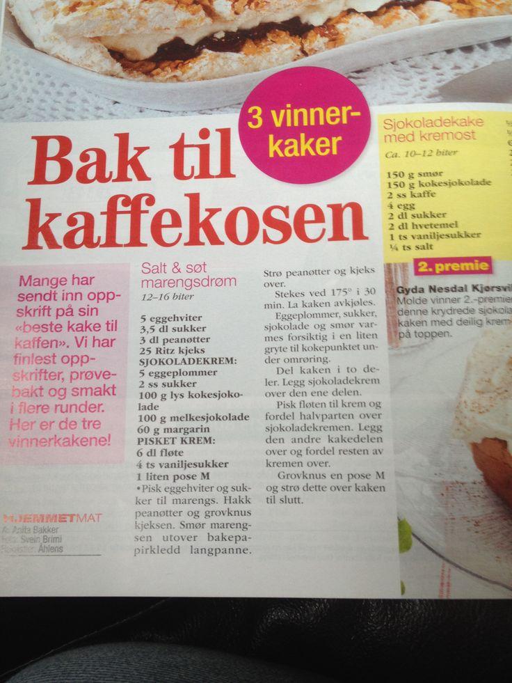 Kake med salt bunn
