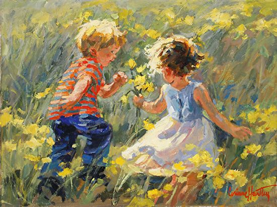 Running for Joy by Corinne Hartley Oil