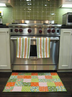 This is a fabulous idea from So Sew.  I think I need to make one to match my kitchen.