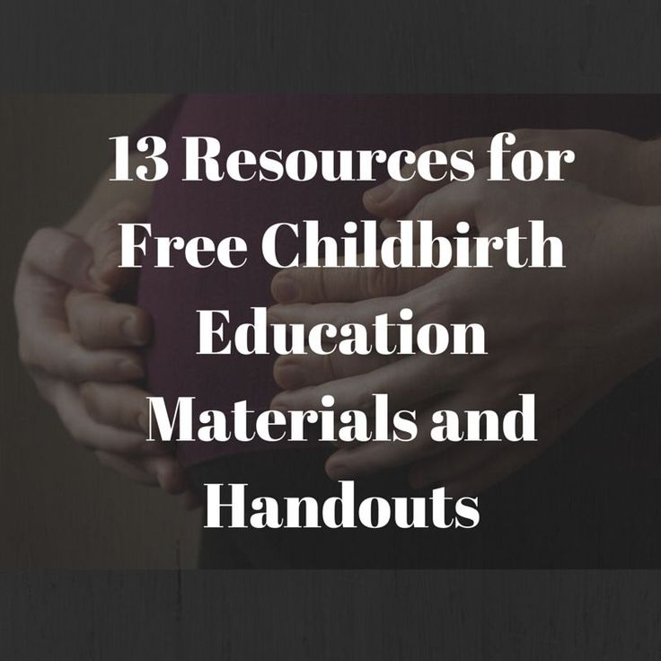 13 Resources for Free Childbirth Education Materials and Handouts