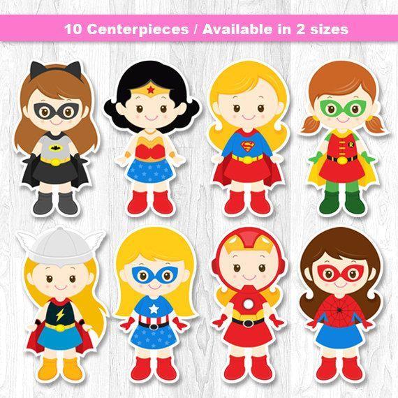Superhero Girl Centerpiece, Superhero Girl Table Centerpiece, Superhero Girl Cake Topper, Superhero Wall Decor