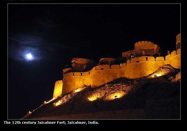 Jaisalmer Fort in India...