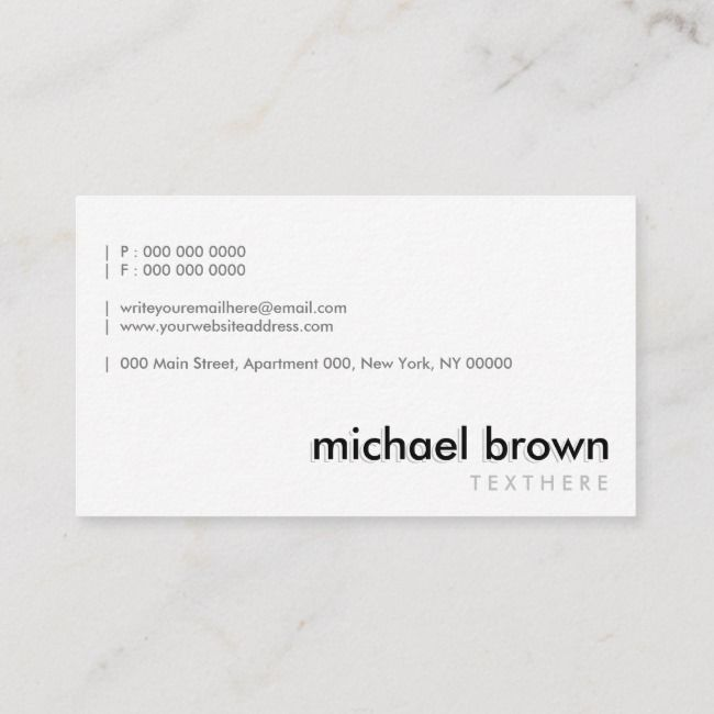 Create Your Own Business Card Zazzle Com Doctor Business Cards Interior Designer Business Card Business Cards Minimal