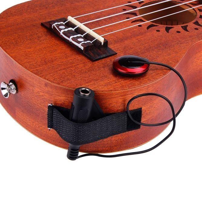 Acoustic Piezo Contact Black Microphone Pickup For Guitar Violin Mandolin Ukulele Mandolin Guitar Ukulele