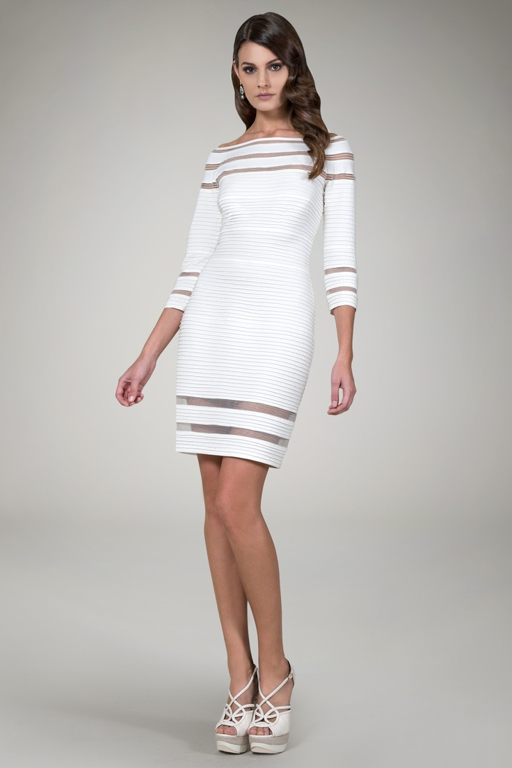 THIS! Should be in PLUS! Pintuck Jersey 3/4 Sleeve Cocktail Dress in Ivory @TadashiShojiPintuck Jersey, 3 4 Sleeve, Cocktails Dresses, Woman Dresses, Tadashi Shoji, Cocktail Dresses, Rehearsal Dinner Dresses, Sleeve Cocktails, Jersey 3 4