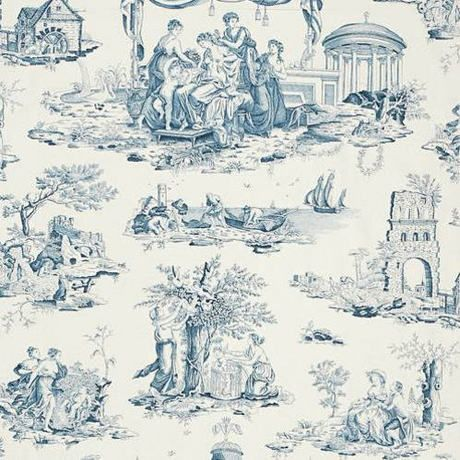 Toile de jouy original de la ciudad de jouy se trata de un tejido de algod - Rideaux toile de jouy ...