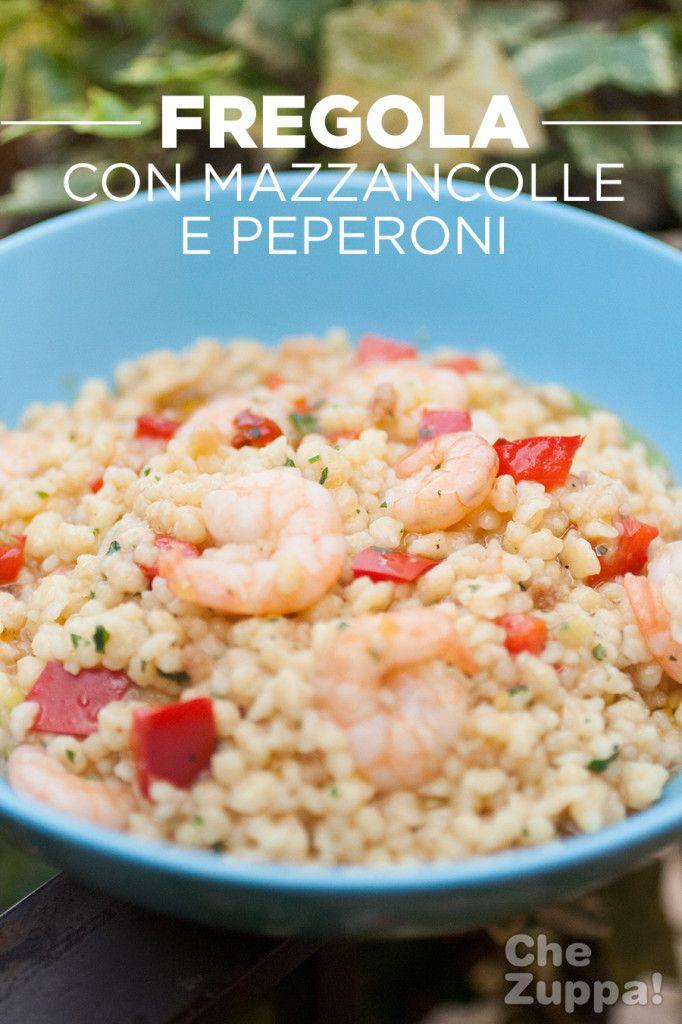 Fregola sarda con code di mazzancolle e peperoni   http://www.chezuppa.com/recipe/fregola-sarda-con-mazzancolle-e-peperoni/   #ricette #recipes #mazzancolle #fregola #fregolasarda #cucinaitaliana #cucinasarda #foodblogger