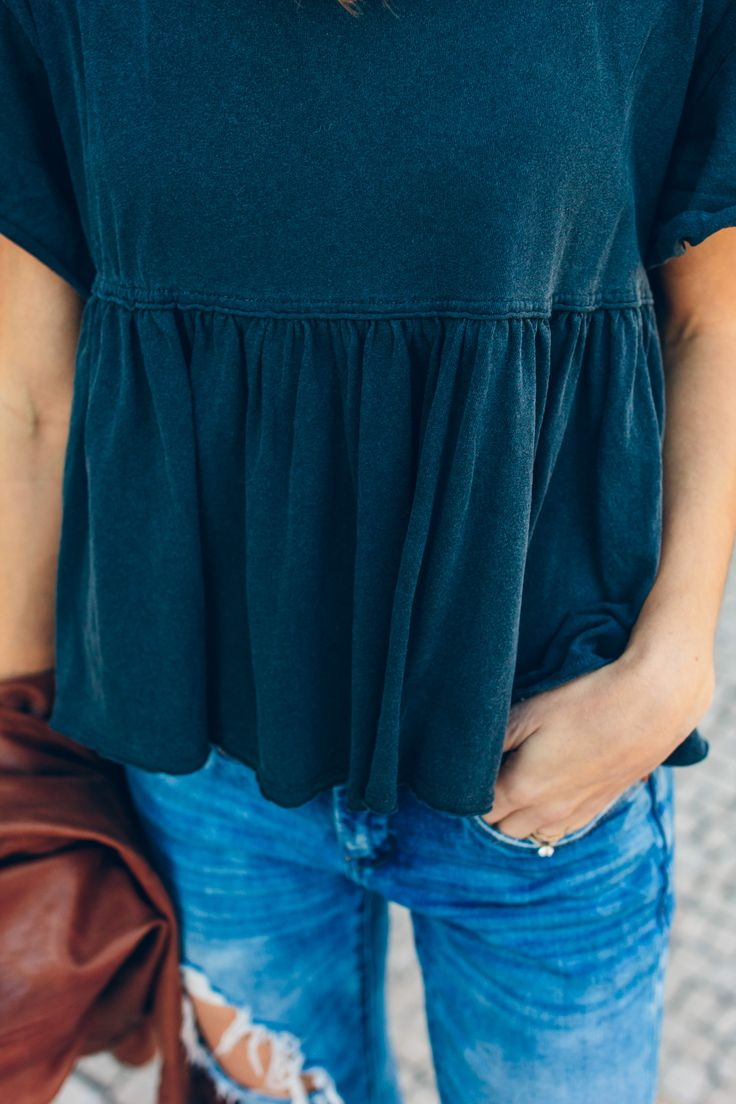 free people peplum shirt