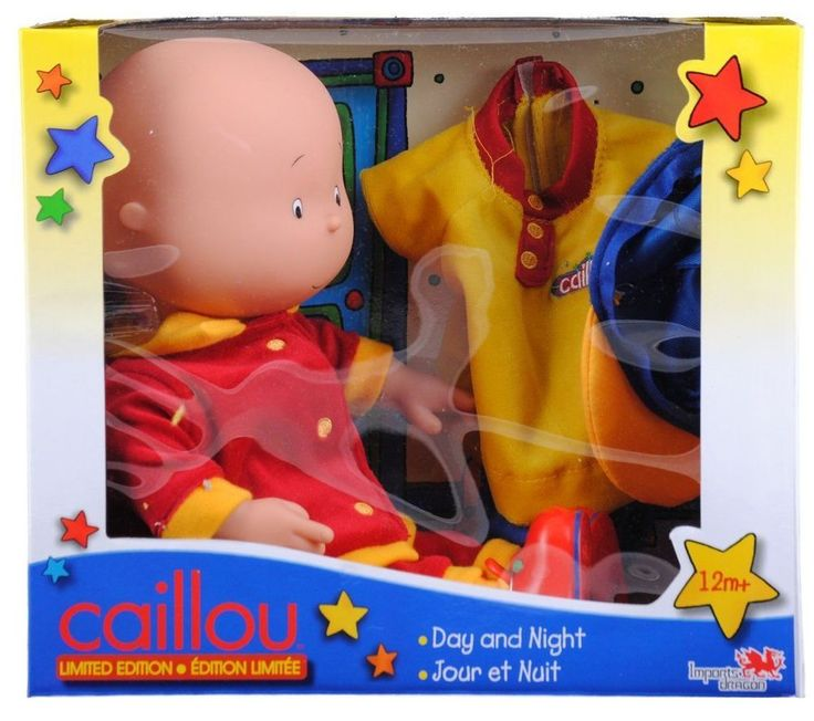 """Caillou 14"""" Exclusive Day And Night Doll W/ Two Outfits Kids Girls Toy Game Gift #Caillou14Exclusive #Doll"""