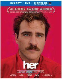 Amazon.com: Her (Blu-ray + DVD + UltraViolet Combo Pack): Joaquin Phoenix, Amy Adams, Scarlett Johansson, Spike Jonze: Movies & TV