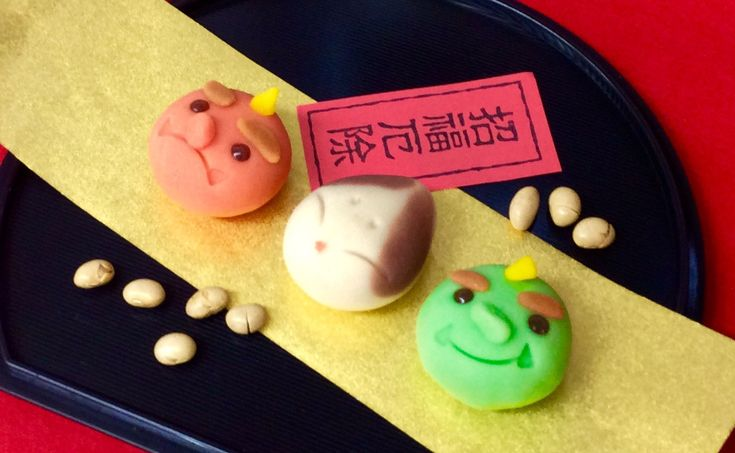 Japanese Sweets / 赤鬼、青鬼、お多福