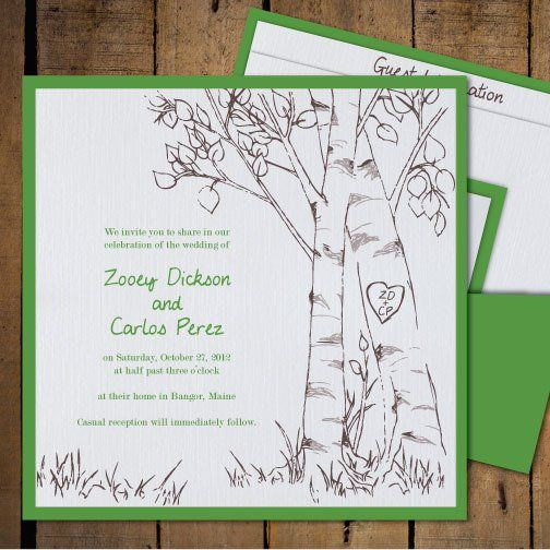 The 25 best Tree wedding invitations ideas on Pinterest Casual