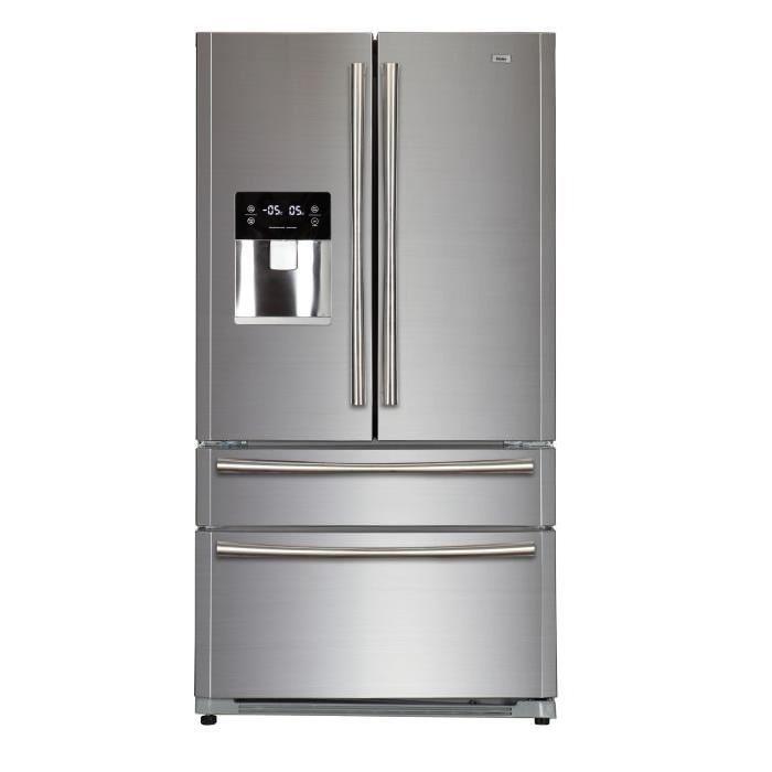 Multi-portes - 522L (387+135) - Froid ventilé - A+ - Distributeur d'eau - L 91cm x H 178cm - Silver