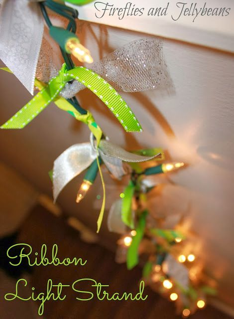 Fireflies and Jellybeans: Ribbon Light Garland and a Pinterest Party (with Michaels Craft Stores!)