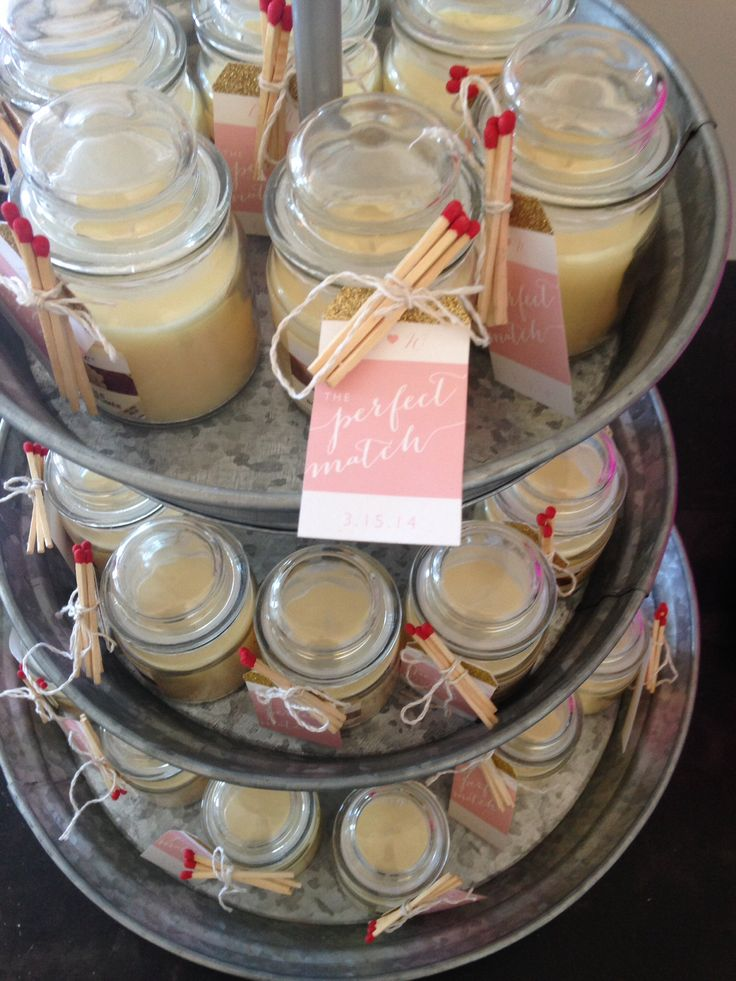 "Wedding shower favors ""the perfect match"""