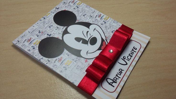 Convite Mickey | Mimos da Criska | Elo7