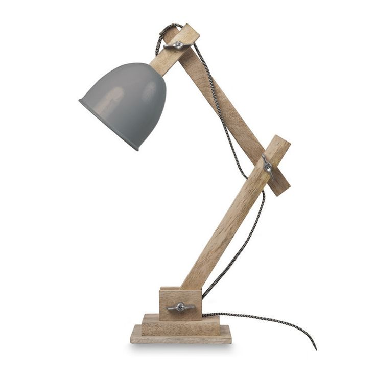 Guarida Table Lamp with Grey Metal Shade by Citta Design   Citta Design Australia
