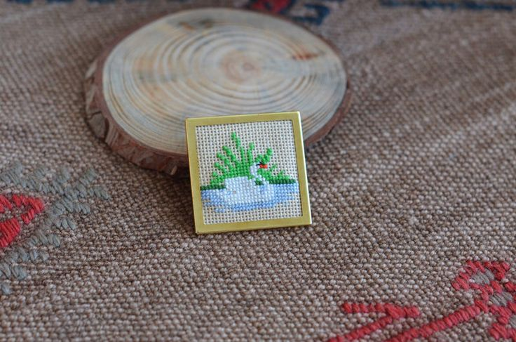 A personal favorite from my Etsy shop https://www.etsy.com/listing/222810659/swan-brooch