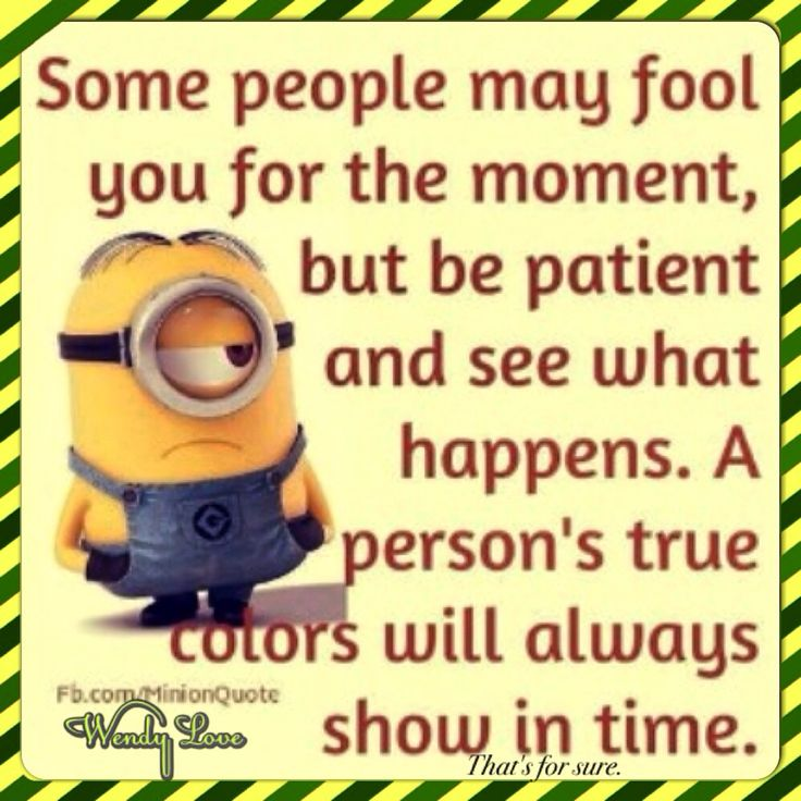 #Some people may fool you for the moment, but be patient and see what happens. A…
