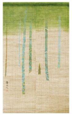 Japanese Noren Curtain - Linen - Kitaoji Rosanjin Bamboo