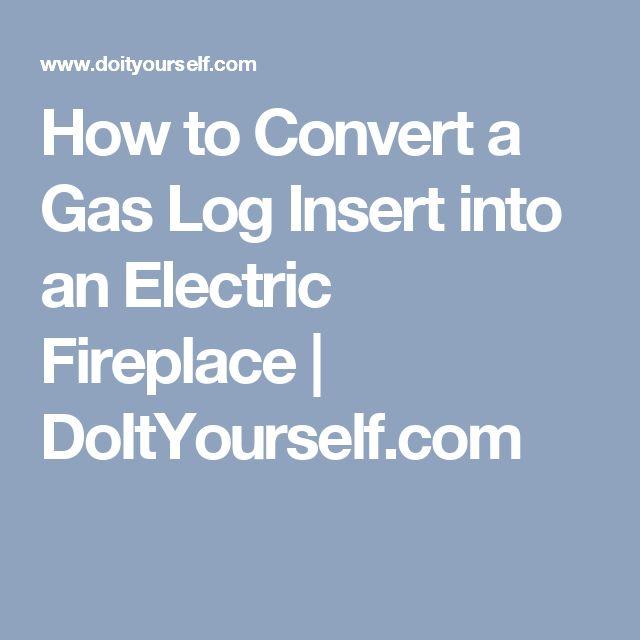 How to Convert a Gas Log Insert into an Electric Fireplace | DoItYourself.com