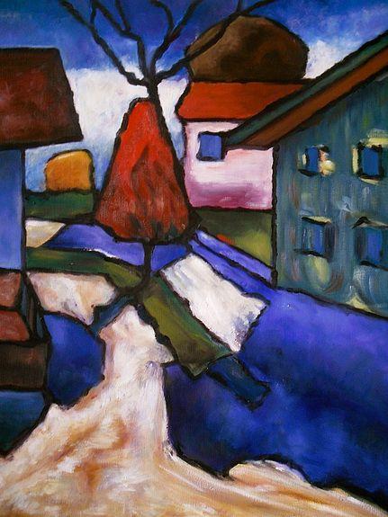 Haar werk wordt in de periode 1933 – 1935 in verschillende Duitse steden geëxposeerd, terwijl zij en Eichner in 1933 door Zuid-Tirol en Noord-Italië trekken, om daarna weer in Murnau neer te strijken. De overweging haar huis te verkopen maakt plaats voor een besluit van Eichner in 1936 om in Murnau te blijven wonen. Het huis wordt gerenoveerd en Eichner wordt de nieuwe huiseigenaar.